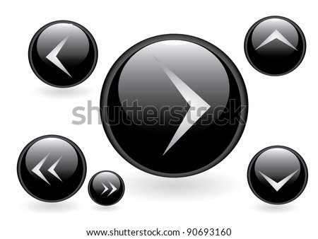 Vector glossy buttons collection. - stock vector