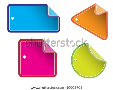 Vector - Glossy colorful sale tag for discount or promotion of your shop items. - stock vector