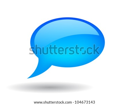 Vector glossy speech bubble, eps10 illustration - stock vector