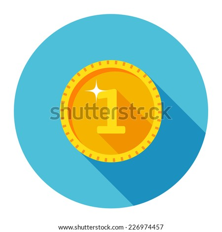 Vector Gold Coin Icon - stock vector