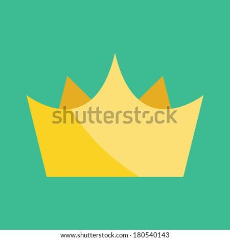 Vector Gold Crown - stock vector