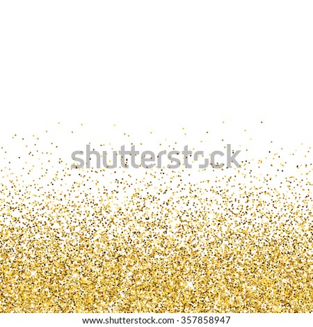 Vector gold glittering abstract background - stock vector