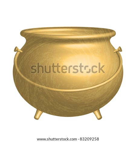 Vector gold pot - stock vector