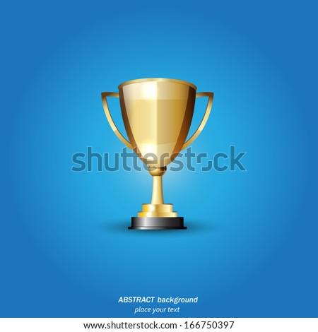 Vector Gold Trophy - stock vector
