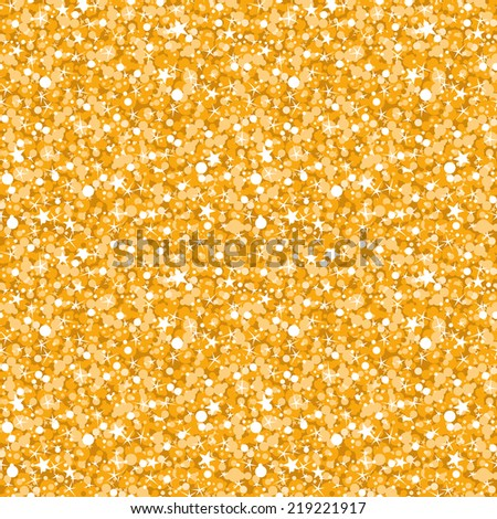 vector golden shiny glitter texture seamless pattern background - stock vector