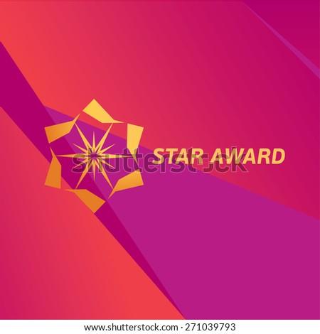 Vector Golden Sparkling Star Award - stock vector