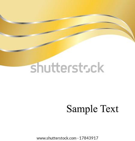 Vector Golden Swirly Waves - stock vector