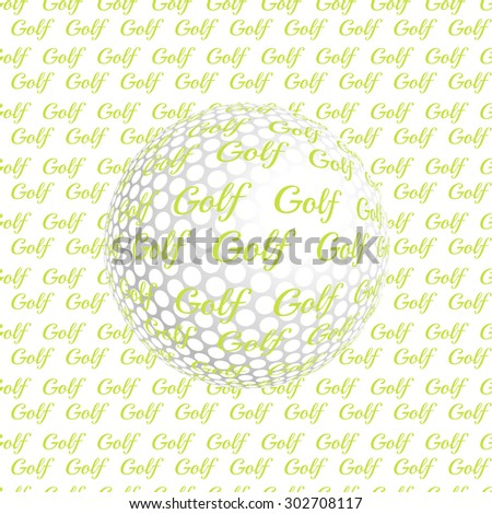 Vector golf ball. Golf ball. Vector illustration a traditional white golf ball. Golf logo. Golf background. Realistic rendition of golf ball texture. Golf texture background - stock vector