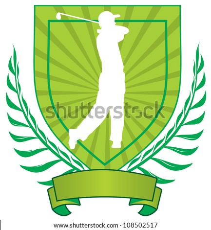 vector golf emblem - stock vector