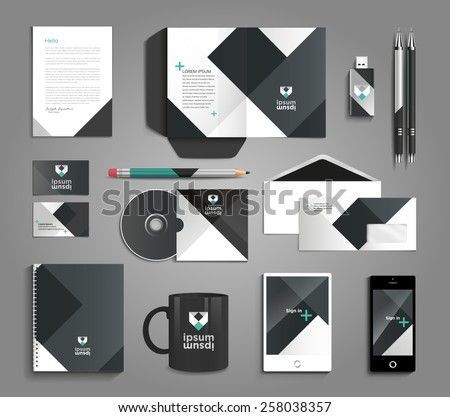 Vector grapchic professional identity for your company, with useful elements - stock vector