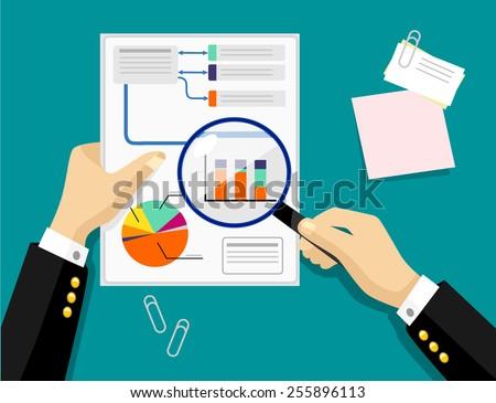 Vector graph flat illustration - stock vector