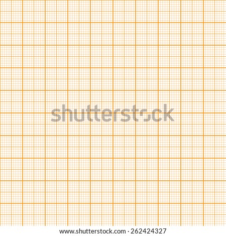Vector graph millimeter paper seamless pattern - stock vector