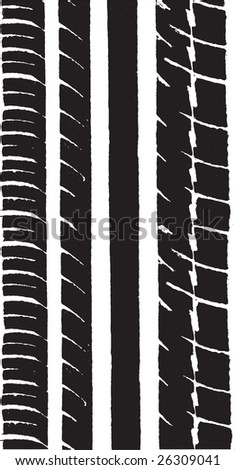 Vector Graphic of a car tyre track - stock vector