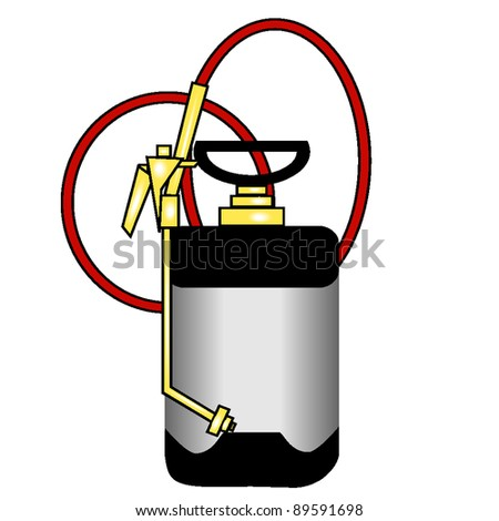 vector graphic of a professional bug sprayer, one an exterminator might use - stock vector