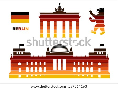Vector graphic symbols of Berlin - stock vector