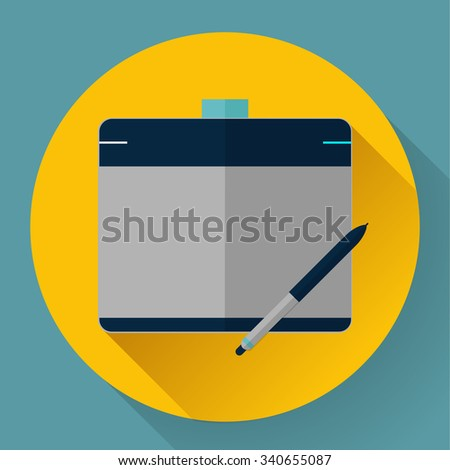 Vector graphic tablet icon - stock vector