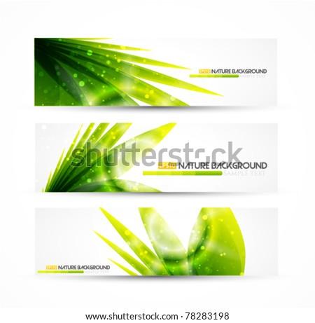 Vector grass banner - stock vector