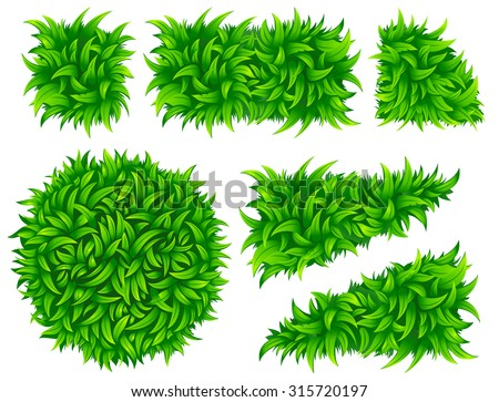 Vector grass pattern. Above view. - stock vector