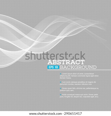 Vector gray wave abstract background EPS 10 - stock vector