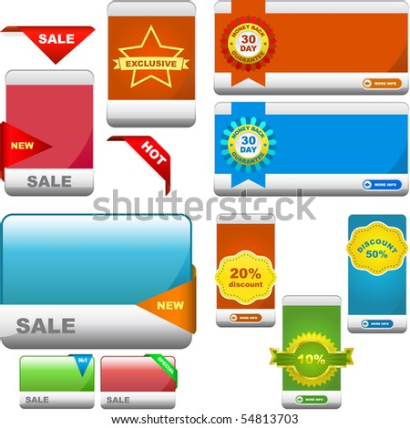 Vector great collection of sale banner. - stock vector