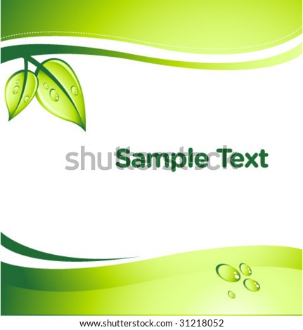 vector GREEN abstract background with place for your text - stock vector
