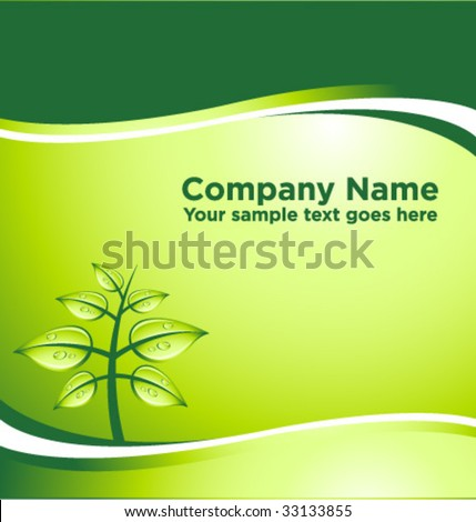 vector GREEN abstract background with place for your text [03] - stock vector
