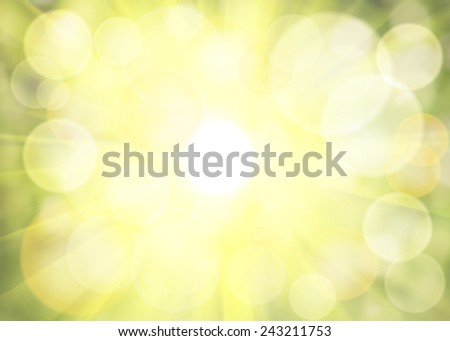 Vector green bokeh. Spring background. - stock vector