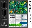 Vector green brochure template design with arrows. EPS 10 - stock vector