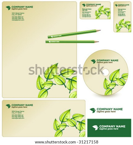 vector GREEN business package - stock vector