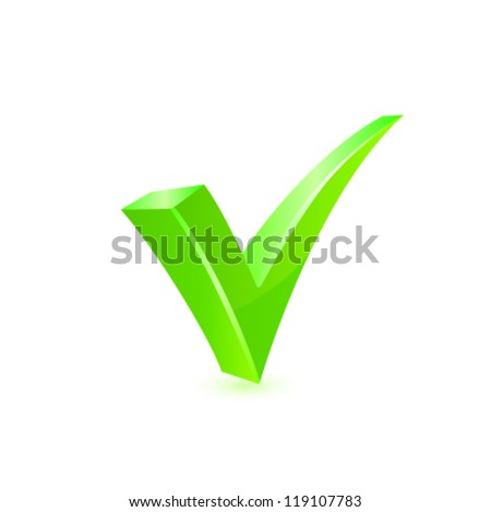 Vector green checkmark. - stock vector