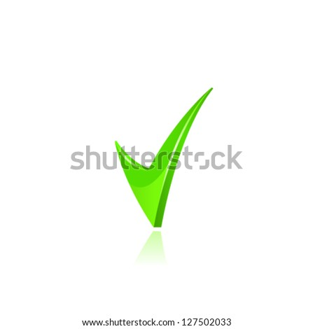 Vector green checkmark. - stock vector