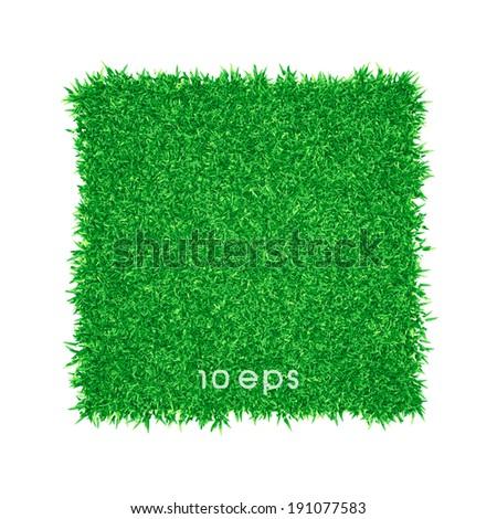 Vector - Green grass background illustration - stock vector