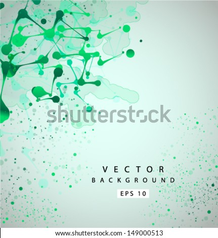 Vector green grunge background - stock vector