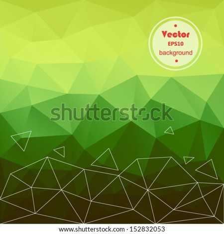 Vector green modern geometric background. Abstract background for design - vector illustration EPS10. Retro colorful background. - stock vector
