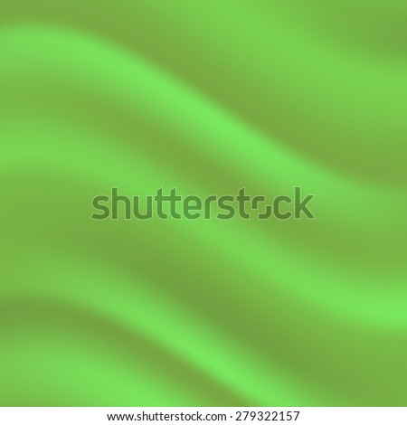 Vector Green Satin Wave Background. Soft Green Textile Pattern. - stock vector