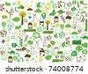 vector - green wallpaper - stock vector
