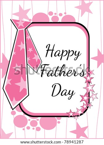 vector greeting card for happy father's day celebration - stock vector