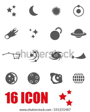 Vector grey space icon set. Space Icon Object, Space Icon Picture, Space Icon Image, Space Icon Graphic, Space Icon JPG, Space Icon EPS, Space Icon AI - stock vector - stock vector