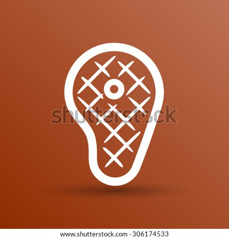 vector grilled meat beef with calligraphic inscription. - stock vector