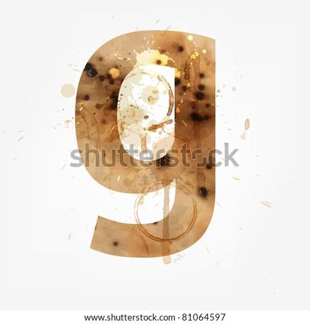 Vector Grunge Alphabet, G - stock vector