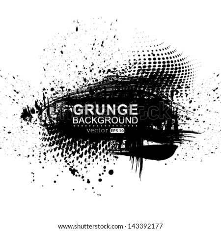 Vector grunge background. - stock vector