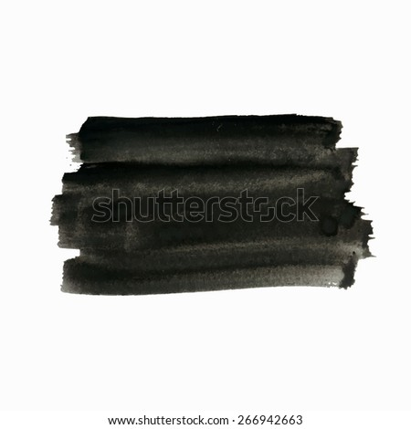 Vector grunge background, artistic rectangular banner for your text. Painted with realistic semitransparent brush strokes. Distress texture  template, label, badge or frame, isolated, black on white - stock vector