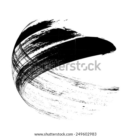 Vector Grunge Background. Modern background. Retro Background. Vintage Background. Business Background. Abstract Background. Texture Background. Circle Brush Stroke . Grunge Shape .  - stock vector