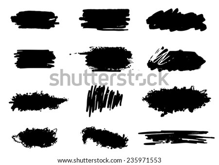 Vector grunge banner set - stock vector