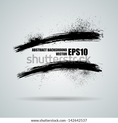 Vector grunge banners. Ink spray - stock vector