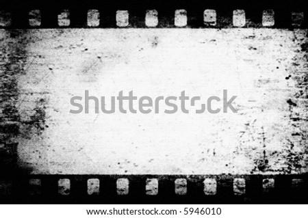 Vector Grunge Film Frame - stock vector