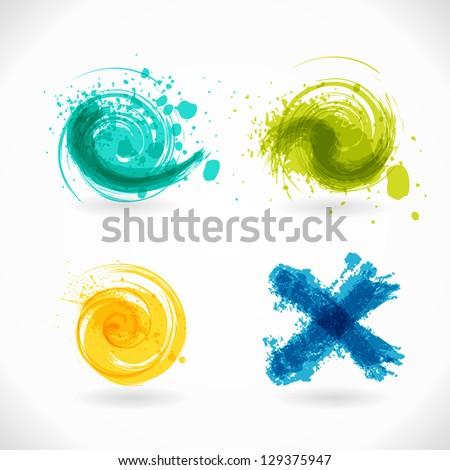 Vector Grunge Heart. Red Abstract Background. - stock vector