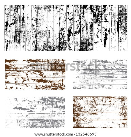 Vector Grunge Overlay Set. Easy to edit. - stock vector