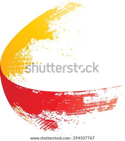 Vector Grunge Paint Brush . Curved Brush Stroke . Vector Logo Design Template . Twirl Grunge Shapes . - stock vector