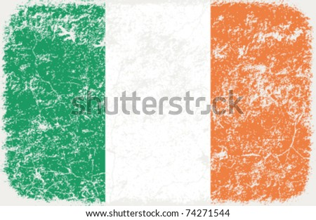 vector grunge styled flag of ireland - stock vector